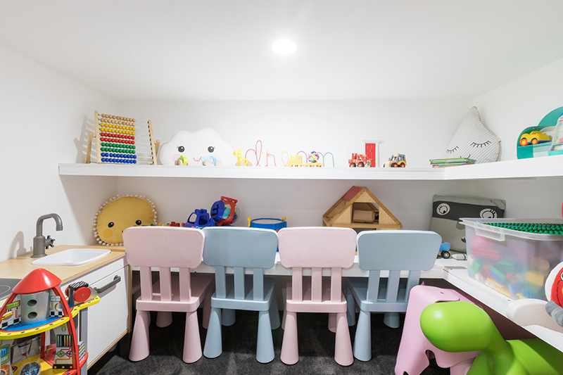 Kids toy storage - Rex's Yarra Valley House